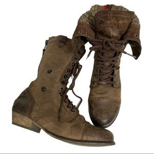 Steve Madden Cablee Combat Boots size 9